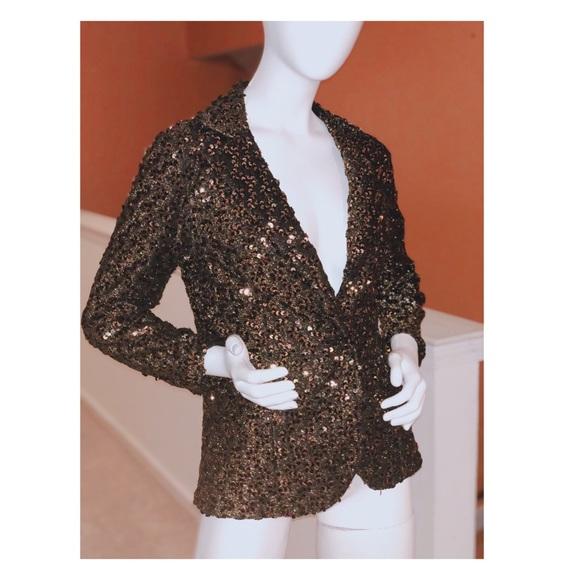 Jackets & Blazers - Lee Jordan NY Gold Sequin Blazer